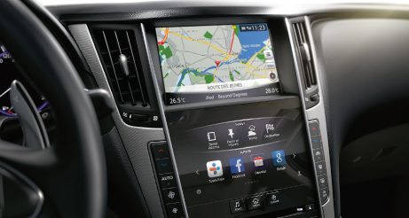 Q50 Navigation Screen