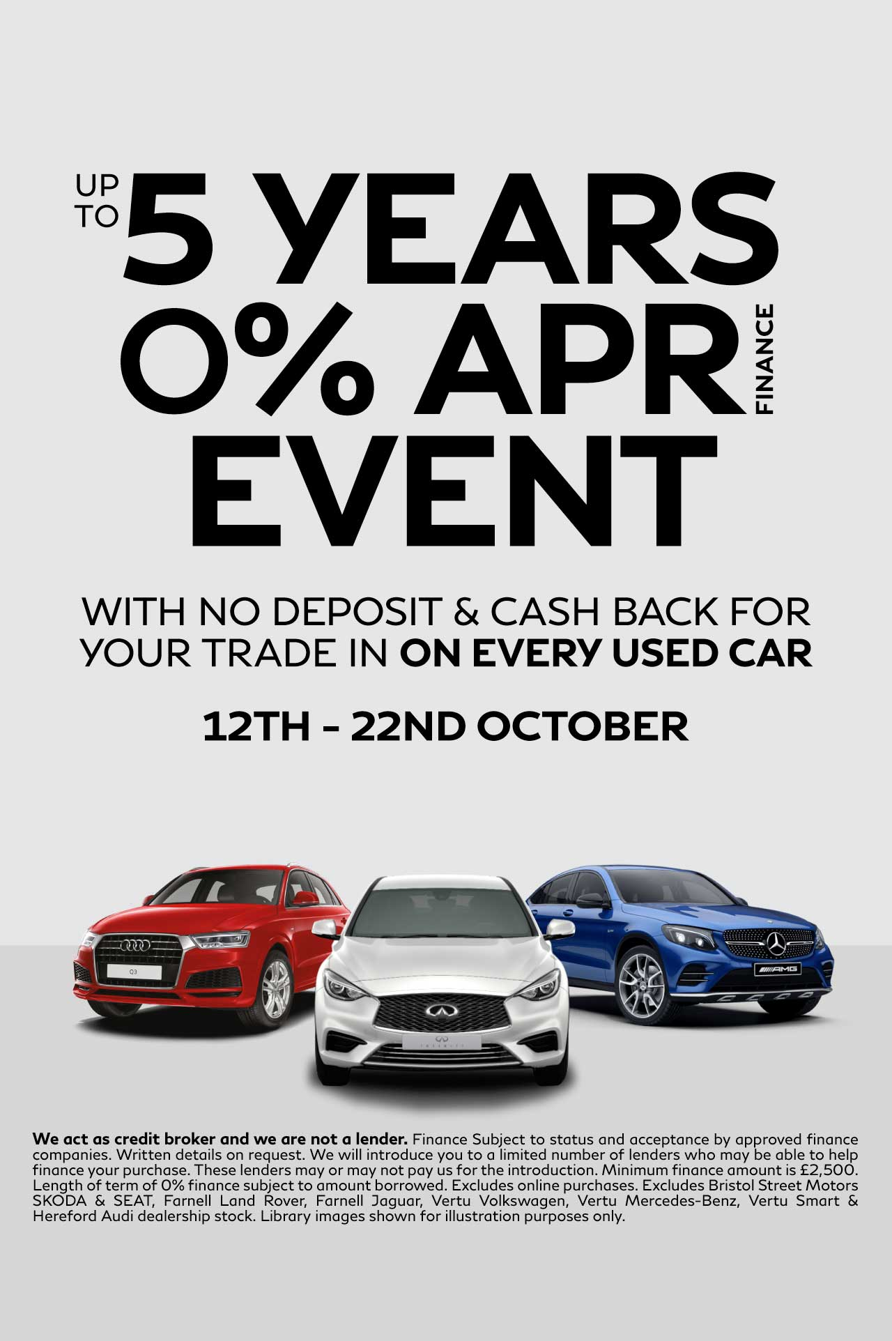 5 Years 0 Event October 18 - Vertu Specialist Cars