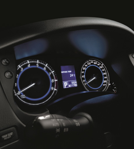 QX50 Clocks and Digital Display