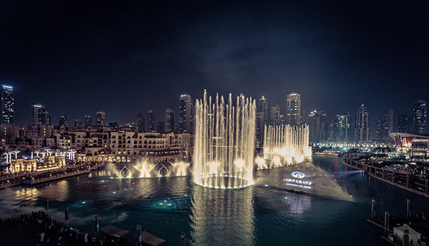 Infiniti Premier World First at Dubai Fountain