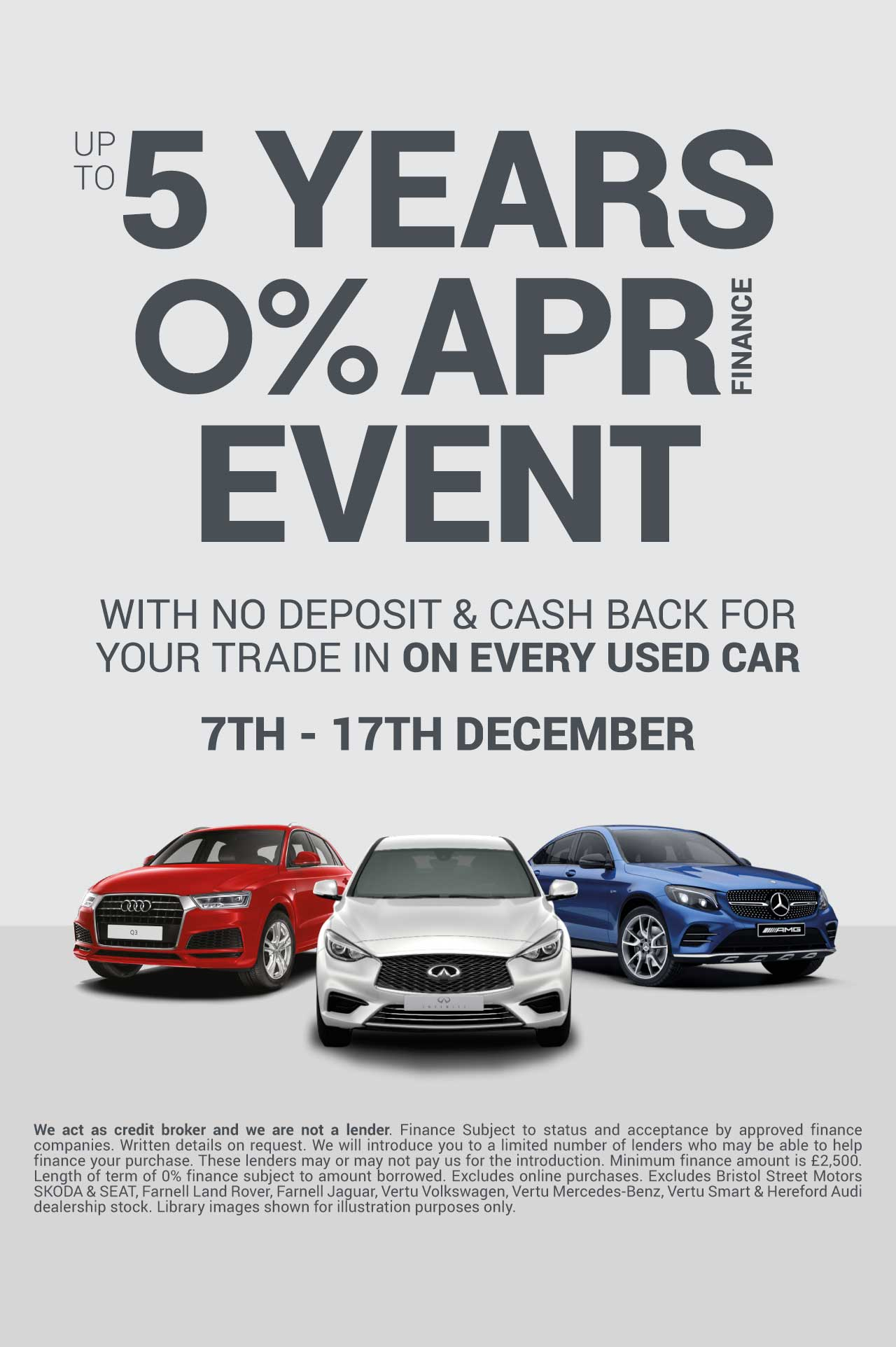 5 Years 0 Event December 18 - Vertu Specialist Cars