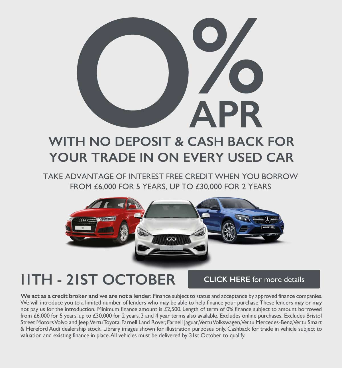 0% Used Car Event October 2019 - VSC